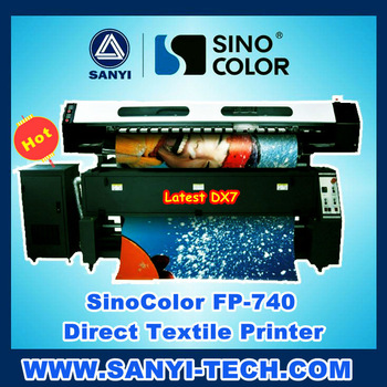 Sinocolor Inkjet Direct to Textile Printer FP740 for Fabric