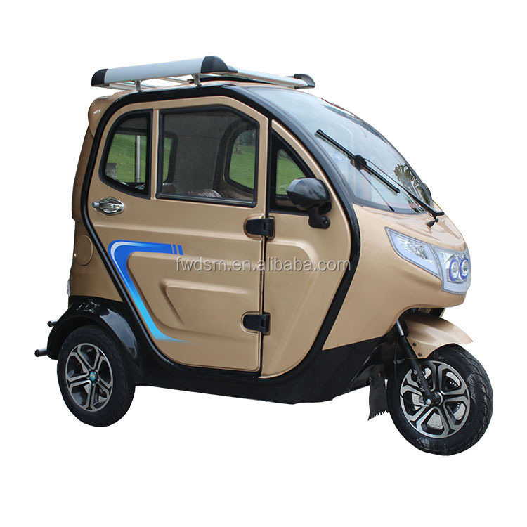 800W fully enclosed three wheel electric motorcycle for handicapped