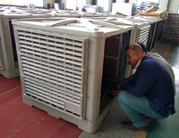 wall mounted axial industrial fan/evaporative air cooler for poultry/warehouse exhaust fans
