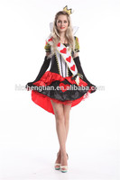 ALICE IN WONDERLAND QUEEN OF HEARTS LADIES FANCY DRESS COSTUME
