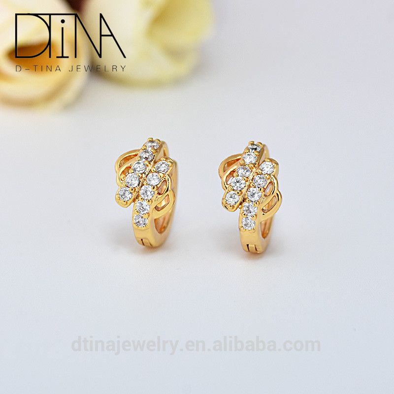 China S Import Small Gold Earrings Beautiful Perforation Imported From Piercing Product On