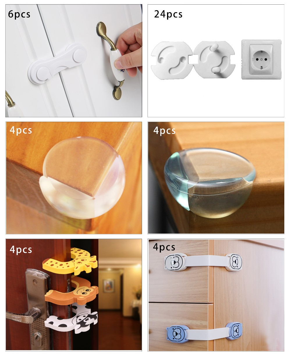 Child safety cabinet lock kit protects baby safety