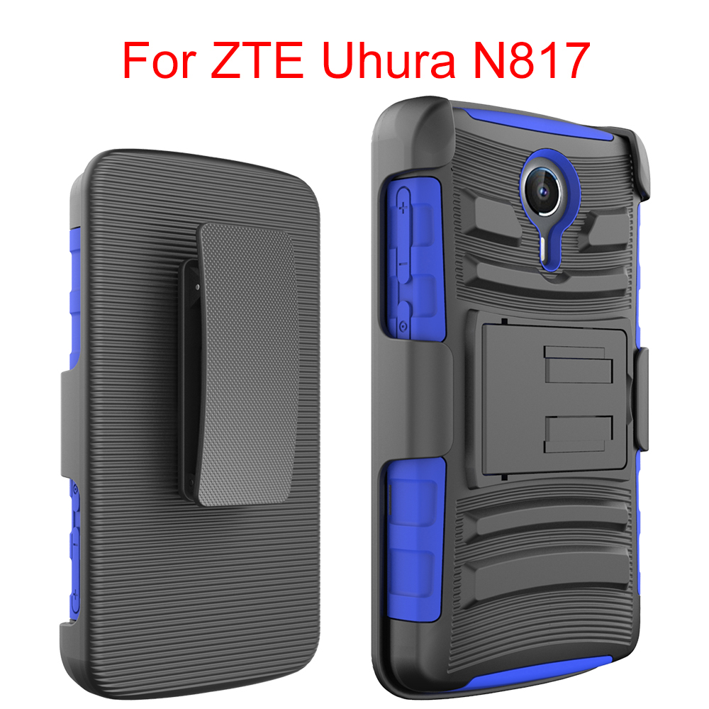 Low Price China Mobile Phone Case Cover For ZTE N817,TPU+PC Belt Clip Holster Stand Case