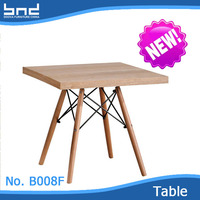 New design modern wooden square teapoy table B009F
