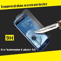 High clear tempred glass factory screen protector wholesale for galaxy s3 , for samsung galaxy s3 i9300 tempered glass