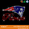 Rhinestone Transfer NFL New England Patriots head Red Hotfix Iron On