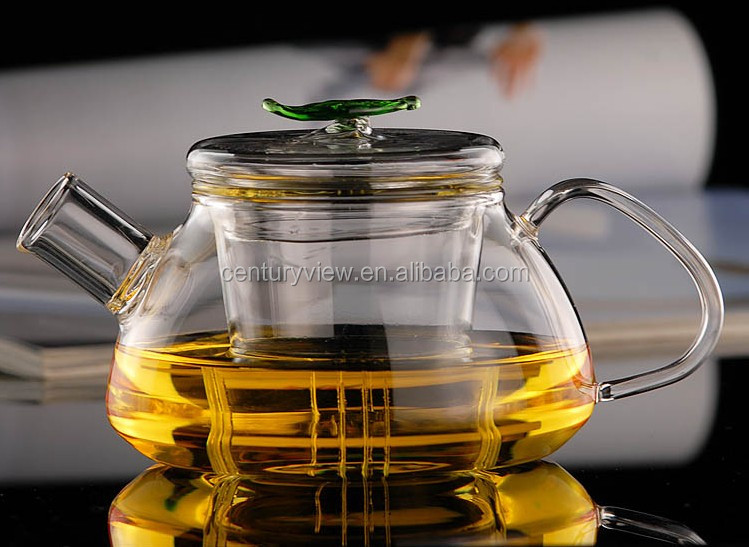 Clear Round Glass Tea Pot For One Set Wholesale With Handle
