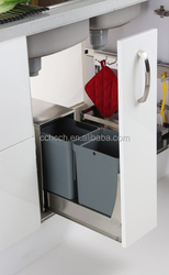 Latest China quality kitchen waste bin, 24 L pull out waste bin