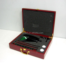 Red wooden box classical executive office Automatic Putting golf gift set