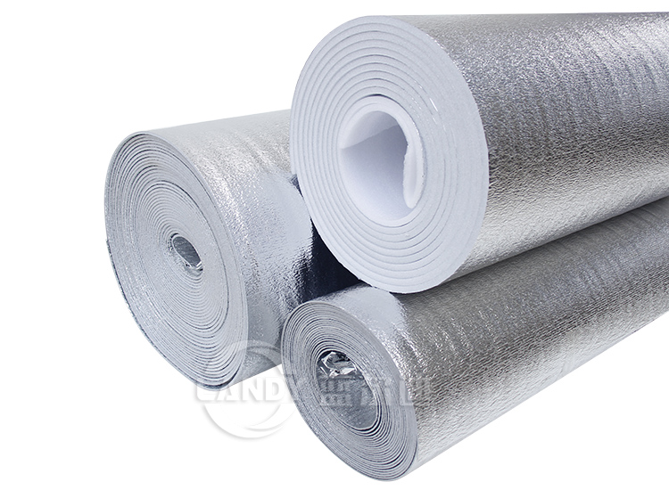 Aluminum EPE foam insulated cooler liner material,insulated liner box shipping liner