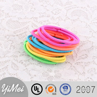 Wholesale Candy color hair band 3 and 4 mm thickness rubber hair accessories