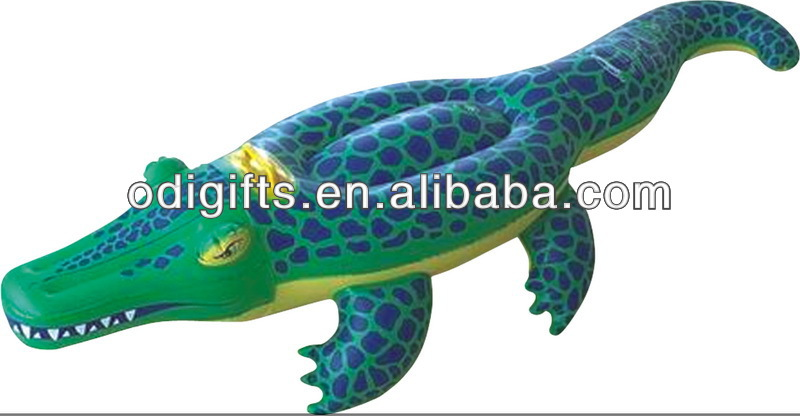 pvc inflatable crocodile toy animal rider