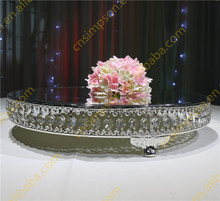 Silver crystal cake stand for event table centerpiece