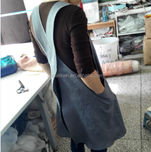 wholesale excellent high quality 100% pure linen beautiful apron with pockets