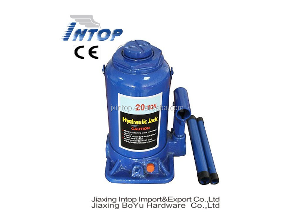 20T Hydraulic bottle jack blue bottle jack with safety relief valve