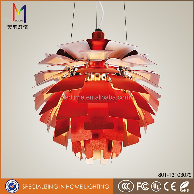 Yellow flowerpot living room ceiling lights designer pendant lights