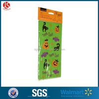 20pcs Cute Halloween Jack-O-Lantern Flat Cello/Candy/Loot Treat Bag with Ties 10 x 6 inch