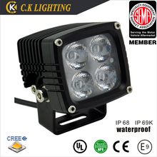 Top quality 12V led driving light 40w auto offroad led work light with 2 years warranty