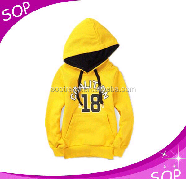 Children fall clothing custom made hoodies pullover kids sweatershirts