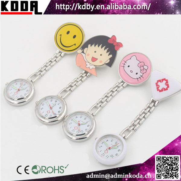 Cute Smile Face Nurse Hanging Watches