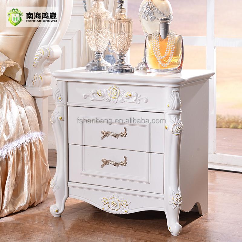 Tijdloze stijl prachtige huis meubels slaapkamer set White french style bedroom furniture