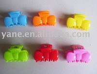 Mix color plastic hair claw, mini hair claw