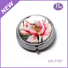 New Product HX-7707 Round Dragonfly Bracelet Pill Box