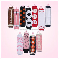 New patterns soft knitted 100% cotton leg warmers