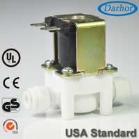 12VDC Electric Solenoid Valve 12 volt DC With Hose Barb for Automatic Faucets Drinking Fountains