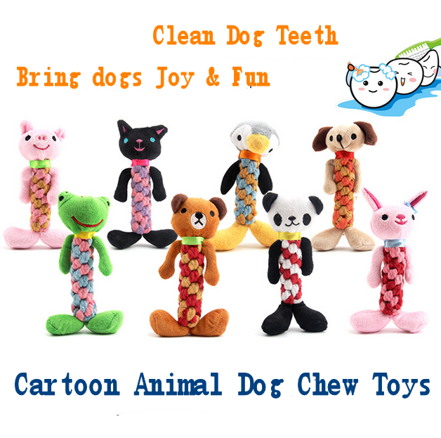 Dog Chew Toys Cartoon Animal Cotton Rope Toy Plush Dog Toys Pet store Wholesale Pet Products