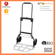 RH-120A Aluminium folding luggage cart 120kgs load capacity hand trolley hand truck