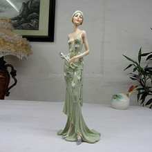 Resin sculpture model figurines crafts pretty girl statue