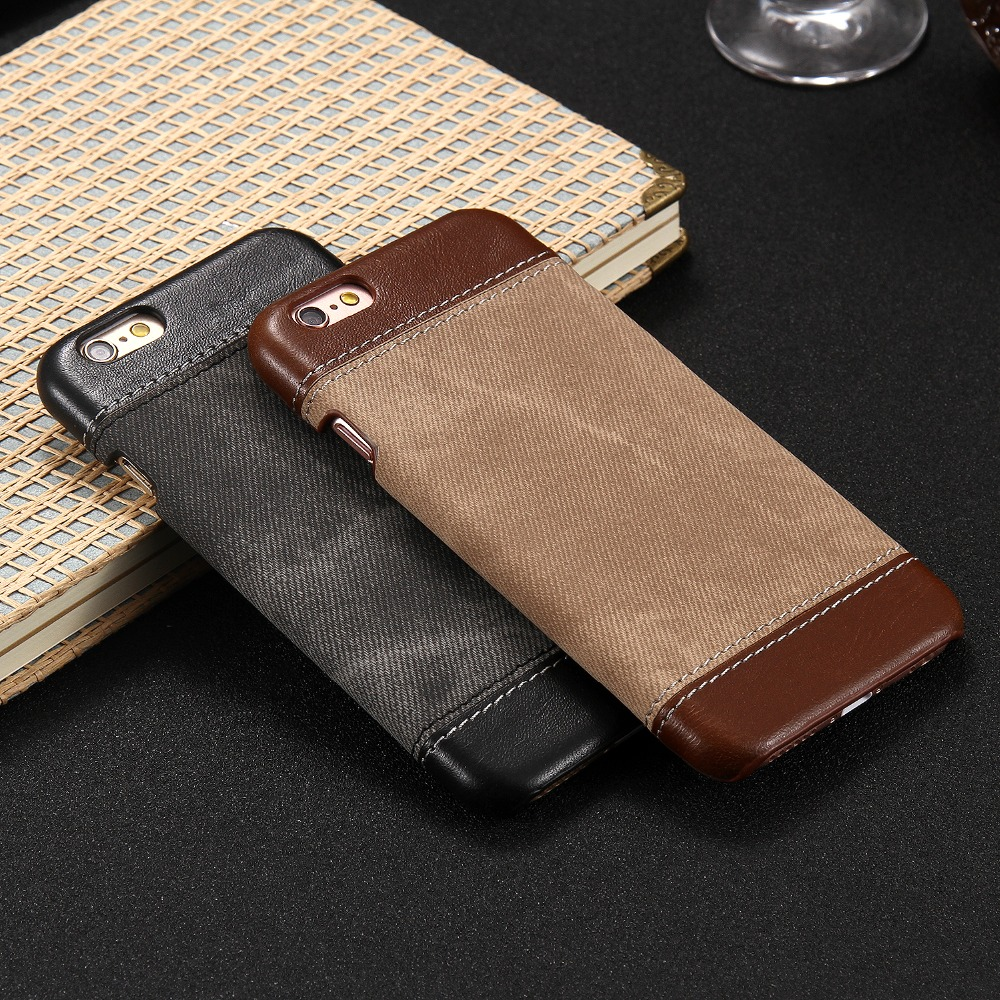Cowboy PU Leather Back Cover For Iphone 6 6s Cowboy Retro Leather case