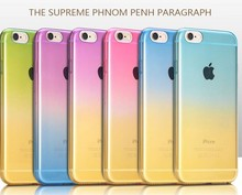 New Style Transparent Gradient Color Water drop soft TPU Skin Case for iPhone SE