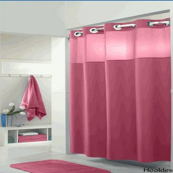 high quality hotel nylon polyester material shower curtain