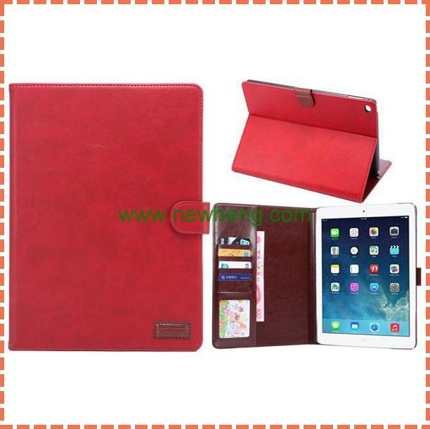Retro Crazy Horse Texture Magnetic Leather Case For iPad Air 2