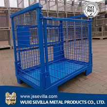 Mesh Box Wire Cage Metal Bin Used Steel Storage Container