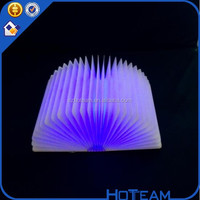 LED book lamp for gift, room decorative romantic wood base led book lamp