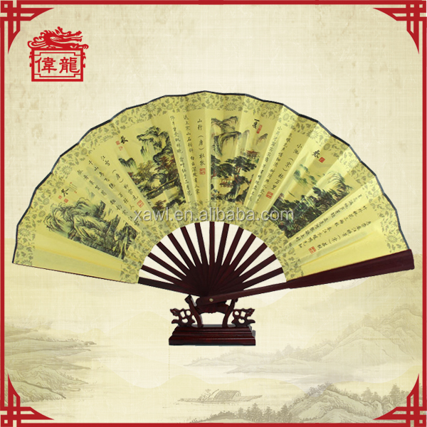 Skillful manufacture oriental custom folding hadn fans for sale GYS213