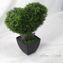 Artificial bonsai plant artificial boxwood topiary grass balls price with tree trunks