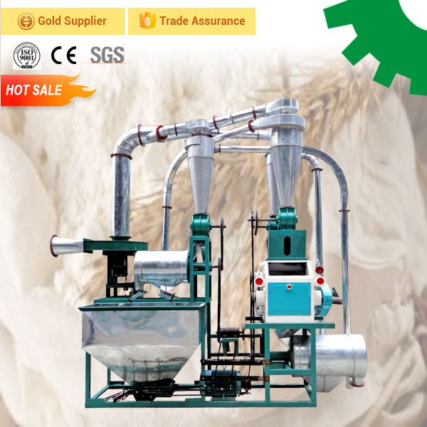 Medium size flour mill grinding wheat for bread making