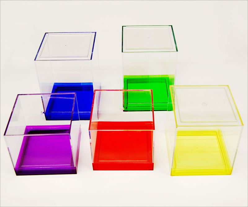 Custom made clear acrylic product earring acrylic box