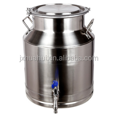 Logo printed stainless steel juice olive oil container sealed tea barrel