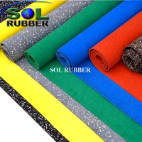 Slip Resistance Environment Friendly Rubber Gym