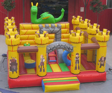 dinosaur commercia inflatable combo bouncer slide for kids