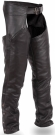 4-snap boot cuffs Leather Motorbike Chap