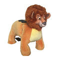 2018 hot sale ride on furry plush walking animal for kids