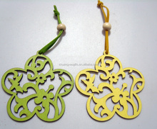 Easter Wooden five petals flower hanging ornaments , Easter hanging decoration for the home