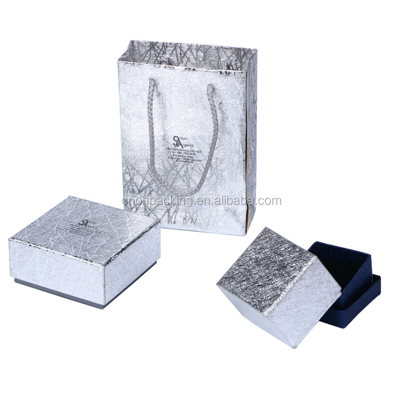 Silk paper jewelry small box and shopper