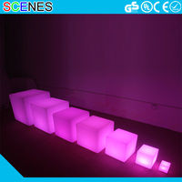 any size protable outdoor plastic swimming pool waterproof cube chair table led glow furniture